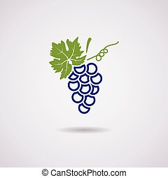 vector icon of blue grapes