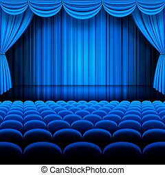 Vector Blue Theater - A vector illustrations of a Theater...