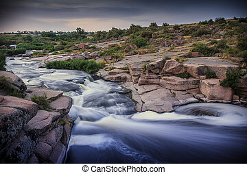 Rapids on the river