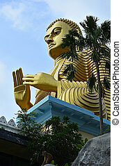 Budda Golden Temple in Dambulla Sri lanka