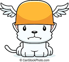 Cartoon Angry Hermes Kitten - A cartoon Hermes kitten...