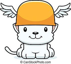 Cartoon Smiling Hermes Kitten - A cartoon Hermes kitten...