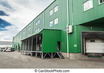 docks warehouse - The warehouse complex for the storage of...