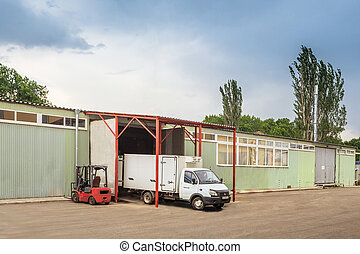 old warehouse outdoor - The warehouse complex for the...