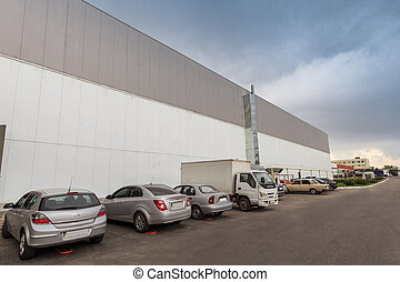 car parking - The warehouse complex for the storage of...