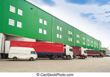 loading vehicles, warehouses - The warehouse complex for the...