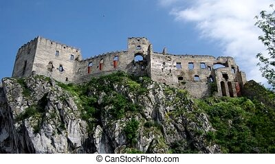 The Castle of Beckov - The gothic Beckov castle ruin in...