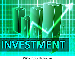 Investment finances illustration of bar chart diagram