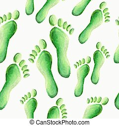 Green footprint pattern background
