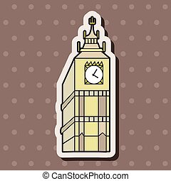 Big Ben theme elements vector,eps