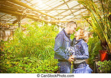 couple, love, botanical garden - The wedding ceremony...