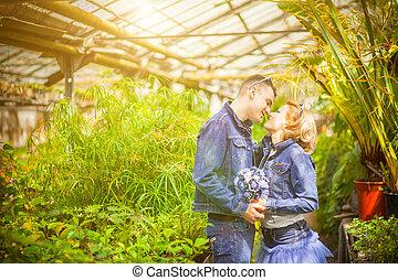 couple, love, botanical garden - The wedding ceremony...