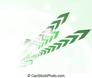 Technological green background