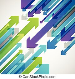 Abstract vector background of different color arrows. Design concept