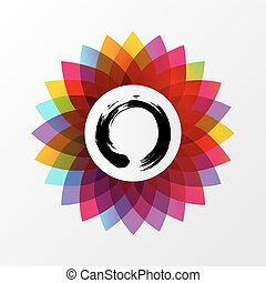 Zen lotus flower concept illustration - Colorful lotus...