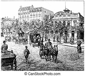 Boulevard Bonne Nouvelle and Theatre Mary Bell Gymnasium,...