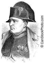 Napoleon, vintage engraving. - Napoleon, vintage engraved...