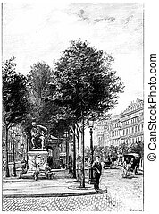 Statue Diderot on the Boulevard Saint-Germain in front of...