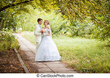 groom and bride on walking - The wedding ceremony beautiful...