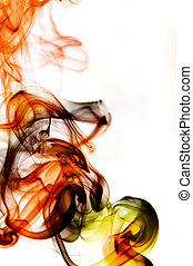 smoke - colored smoke isolated  on a white background