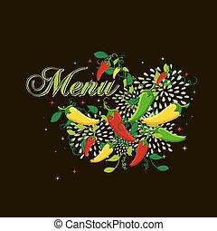 Mexican food  menu cover design