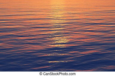 sunset reflection in the sea