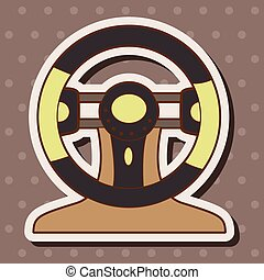 racing steering wheel theme elements vector,eps