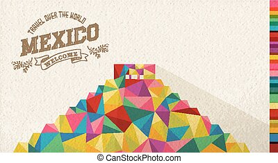 Travel Mexico landmark polygonal monument - Travel Mexico...