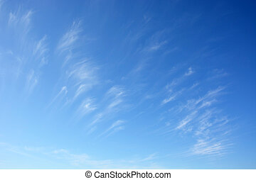 Daytime sky with stratus clouds as a backgrounds