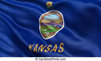 US state flag of Kansas