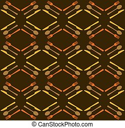 Restaurant seamless pattern background