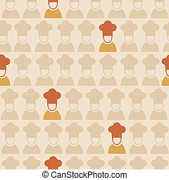 Restaurant chef seamless pattern background