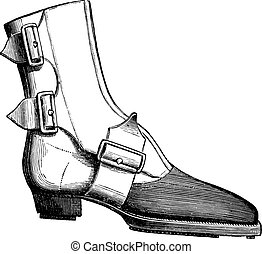 Ankle boot Vector Clipart Illustrations. 352 Ankle boot ...