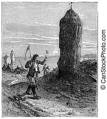 The Tour de France a small Parisian, Menhirs of Brittany,...