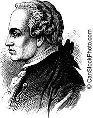 Kant, vintage engraving. - Kant, vintage engraved...