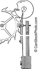 Chronometer escapement, vintage engraving.