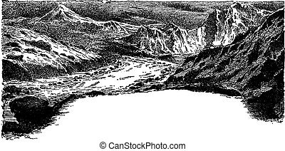 Chapter One, The fourth age of life on earth, vintage engraving.
