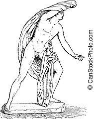 Son of Niobe, vintage engraving.