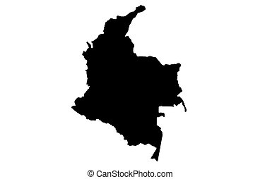 Republic of Colombia - white background