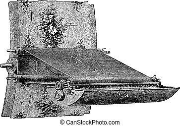 Various elements of the printing wallpaper, vintage engraving.