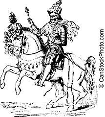 Henry IV, vintage engraving - Henry IV, vintage engraved...