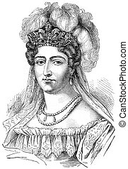 Duchess of Angouleme, vintage engraving. - Duchess of...