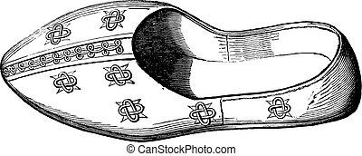 Mule Pope Sylvester 1, vintage engraving. - Mule Pope...