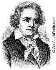 貝多芬, 葡萄酒, engraving.,