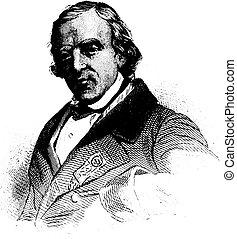 Francois-Vincent Raspail, vintage engraving -...