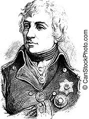 Nelson, vintage engraving.
