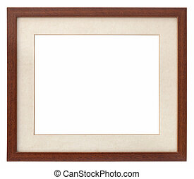 wooden photo frame modern with passepartout