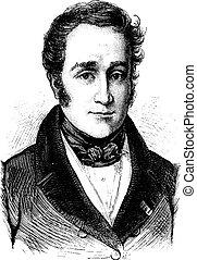 Victor de Broglie, vintage engraving - Victor de Broglie,...