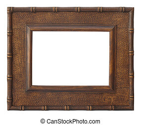 wooden photo frame rustic
