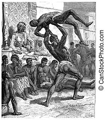Slavery in Sudan The winner taken off his opponent at arms...